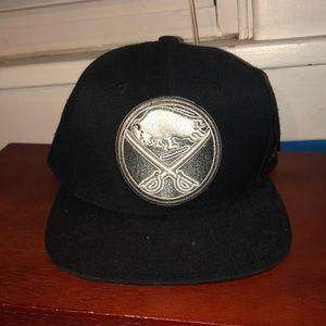 Black and Silver Reebok Sabers hat